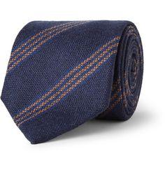 Drake's Striped Cashmere Tie | MR PORTER