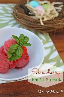 Mr and Mrs P: Strawberry Basil Sorbet