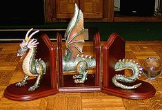 Book Wyrm Bookends; necessary for all those bookcases I intend to have.
