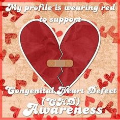 Yep. Still spreading awareness on pintrest. It's CHD awareness week so get used to it!