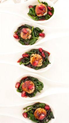 Pomegranate Scallop Appetizer