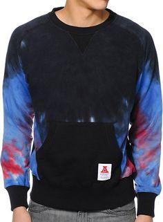 0e0a8a7d3120 Asphalt Yacht Club Tye Dye   Black Crewneck Sweatshirt ---- This looks  ridick comfy