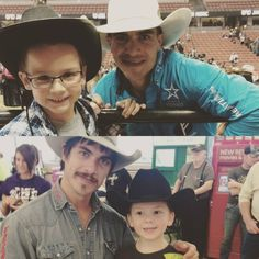 A couple young cowboys I've met at PBRs. @wrangler @real.time.pain.relief @totalfeeds @playagainnow   mikelee8seconds.com