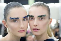 "Peter Philips, Creative Director of CHANEL Makeup used the following CHANEL products to create the runway beauty looks for Fall/Winter 2012-13: ""The inspiration for the makeup look came from a few key words and a sketch that Karl Lagerfeld provided: minerals, shading and eyebrows were the key words and the sketch showed a face with stone-lined eyebrows…"