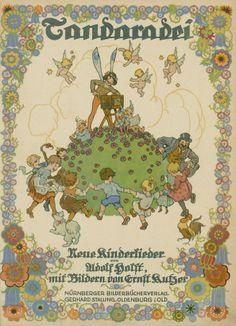 Ernst Kutzer Vintage Children's Books, Vintage World Maps, Make Believe, Commercial Art, Children Books, Book Illustrations, Faeries, Mermaids, Book Covers