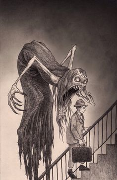 Dirge got a chance to talk with John Kenn Mortensen, aka Don Kenn, about the inspiration for his famous monster drawings on Post-Its. Arte Horror, Horror Art, Don Kenn, Sticky Monster, Art Noir, Art Tumblr, Arte Obscura, Drawn Art, Creepy Art