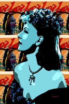 "Saatchi Art Artist ACQUA LUNA; Painting, ""11-Greta Garbo. Pop Art."" #art"