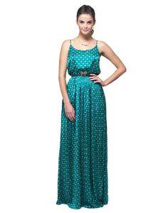 Vestido Longo Coroinhas Plissado | Vestidos | Antix Store