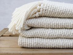 Chunky Ecru wool Blanket, natural organic merino wool, Off White throw blanket - Ready to ship - by TexturableDecor by TexturableDecor on Etsy https://www.etsy.com/listing/169366600/chunky-ecru-wool-blanket-natural-organic