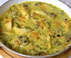 Kurczak w kremowym sosie pieczarkowo-koperkowym - Blog z apetytem Polish Recipes, Polish Food, Guacamole, Poultry, Quiche, Recipies, Food And Drink, Mexican, Dinner