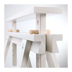 Woodworking Furniture Shelves FINNVARD Trestle with shelf - white - IKEA . Wood Pallet Furniture, Cabinet Furniture, Wood Pallets, Diy Furniture, Modern Furniture, Furniture Design, Easy Woodworking Projects, Woodworking Furniture, Woodworking Tools