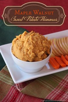 Maple Walnut Sweet Potato Hummus - you'll love this autumn appetizer or snack! | cupcakesandkalechips.com | gluten free and vegan
