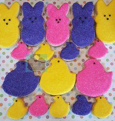 Chilln with my peeps sugar cookies Keri's Kreations Easter