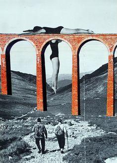 Le pont 2© CARO-MA hand-made collage