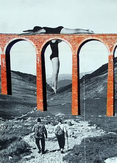 Le pont 2© CARO-MA hand-made collage