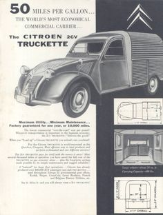 1958 Citroen 2CV brochure for the United States.