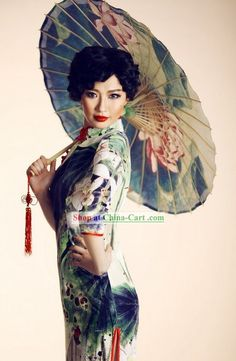 Traditional Chinese Silk Old Shanghai Style Silk Cheongsam