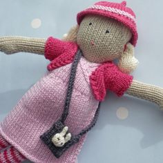 Poppy++Hand+Knitted+Doll+by+BooBiloo+on+Etsy