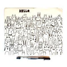The Animals Say Hello – Lisa Congdon Art + Illustration