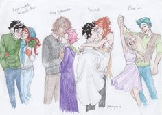 tapdancing-spiders:  lightningstrucktower:   Potterverse Couples by *burdge-bug …and their labels according to yours truly. (harry potter, ginny weasley, remus lupin, nymphadora tonks, james potter, lily evans, victoire weasley, and teddy lupin)  i like this a lot! james/lily and ginny/harry are awesome. <3