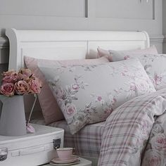 Catherine Lansfield Canterbury Brushed Check Housewife Pillowcases - Pair