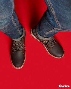 Lace-up brown boots are perfect autumn footwear. Wear with jeans and a nice cardigan for ultimate seasonal swagger! Bata Shoes, Men's Shoes, Brown Ankle Boots, Doc Martens Oxfords, Shoe Collection, Moccasins, Oxford Shoes, Footwear, Lace Up