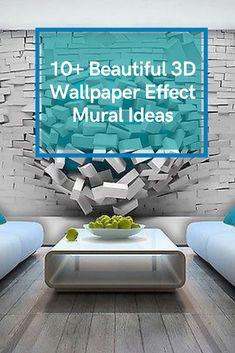 10+ Beautiful 3D Wallpaper Effect Mural Ideas #wallpapereffectideas Wallpaper With 3d Effect, 3d Wallpaper, Mural Ideas, Furniture Ideas, Diy Crafts, Beautiful, 3d Desktop Wallpaper, Make Your Own, Homemade