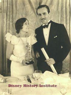 Walt and Lillian Disney, 1932 Academy Awards Disney Family, Disney Love, Disney Magic, Walt Disney World, Disney Pics, Disney Disney, Disney Stuff, Lillian Disney, Walter Elias Disney