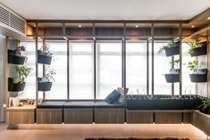 7 Easy Ways to Bring the Outdoors Inside Your HDB or Condo - Simple Ways to Bring Outdoors Inside - IDeas, Plans, Tips Living Wall Planter, Wall Planters, Wooden Sliding Doors, Window Seat Cushions, Renovation Budget, Small Condo, Cosy Corner, Single Bedroom, Built In Bench