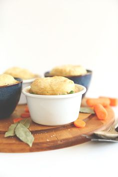 1-Hour Vegan Pot Pies! So simple, delicious, and topped with FROM SCRATCH #vegan biscuits  #minimalistbaker