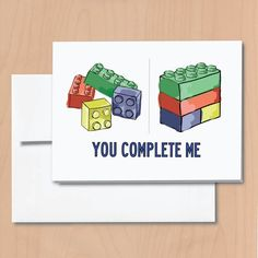 Lego You Complete Me Valentine's Card | Community Post: 16 Geeky Valentine's Day Cards