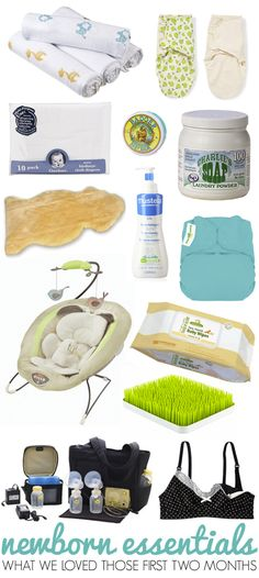 newborn essentials. That nursing bra is a must! Along with the swaddling blankets