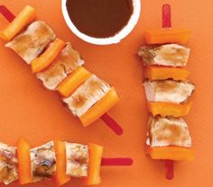 Healthy Snacktime Skewers. Gather some healthy ingredients, like low-fat cheese, lean meat, and fruit, and put out some toothpicks or short wooden skewers. Let your kids assemble their own skewers for a healthy, fun snack!