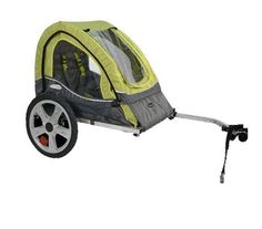Single Bicycle Trailer Pet Kid Child Canopy Bike Seat Tow Hitch