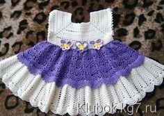 Dress for the little princess Crochet Dress Girl, Crochet Girls, Crochet Bebe, Crochet Baby Clothes, Crochet For Kids, Knit Crochet, Knitting For Kids, Baby Knitting, Toddler Dress Patterns