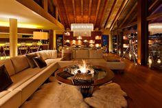 Chalet Zermatt Peak – Perfectness of Six-Star Boutique Chalet in Switzerland: The Living Room With Small Fireplace In Charlet Zermatt Peak Luxury Boutique