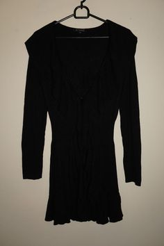 ST-MARTINS SCANDINAVIAN DESIGN WOMEN LONG SEXY CARDIGAN BLACK Size XS 5% ANGORA #stmartins #Cardigan #Work
