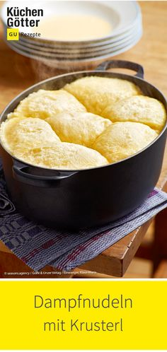 Dampfnudeln mit Krusterl Great recipe for delicious steamed noodles with Krusterl: www. Paleo Recipes, Crockpot Recipes, Baking Recipes, Great Recipes, German Baking, Paleo Appetizers, Paleo Meal Plan, Paleo Dessert, No Bake Desserts
