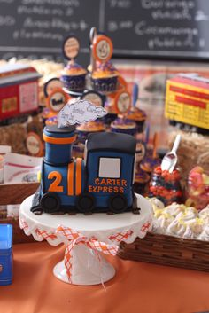 "Photo 2 of 70: Vintage Trains / Birthday ""Carter's 2nd Birthday~Trains!"" 