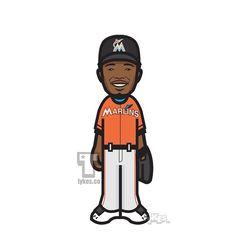 Dee Gordon Miami Marlins Tyke. #SpeedKills #DeeGordon #MiamiMarlins #Marlins #MLB #baseball #tyke #tykes #MyTyke www.tykes.co
