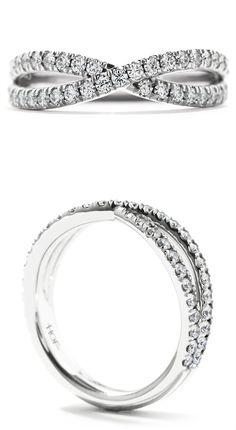 infinite twisted white gold or platinum diamond wedding bands