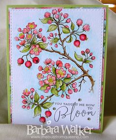 The Buzz: Watercolored the Flowering Branches digital stamp from #powerpoppy Details on my blog. Click the pic!