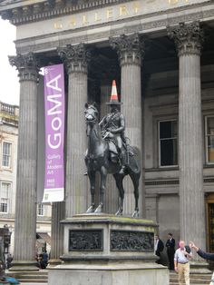 Glasgow, Scotland, TRUE HE HAS A CONE ON HIS HEAD CONSTANTLY..EVERYTIME THEY REMOVE IT IT GOES BACK  ON :)))))