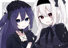 Magical Girl After the Rain Gothic Anime, Cute Chibi, Anime Group, Drawings, Kawaii, Anime Friendship, Anime Characters, Anime Sisters