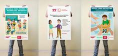 Carteles para Infonavit sobre igualdad.