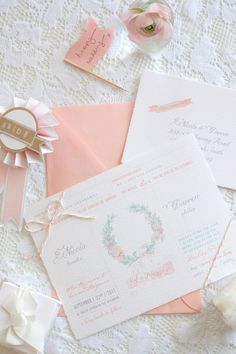 Kathryn green does water colour wedding invitstions