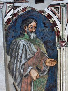 Gentile da Fabriano e bottega -Fabrizio - Sala dei Giganti - ciclo di affreschi frammentario - 1411-1412 - Palazzo Trinci a Foligno