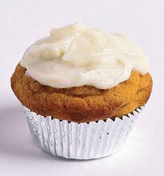 111 cal per cupcake! Fall Pumpkin-Pie Cupcakes.