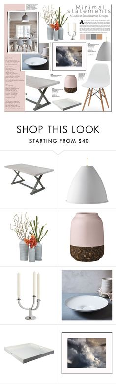 """""""Minimal -Scandinavian Design"""" by anyasdesigns ❤ liked on Polyvore featuring interior, interiors, interior design, home, home decor, interior decorating, Bestlite, Bloomingville, Eichholtz and West Elm"""