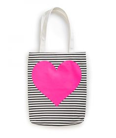 Ban.do Canvas Tote - Stripe / Heart